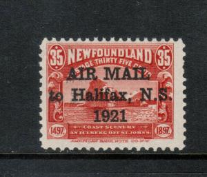 Newfoundland #C3f Mint Fine - Very Fine Never Hinged **With Certificate**