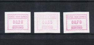 Papua New Guinea Frama stamp set of 3 MNH