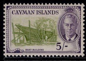 CAYMAN ISLANDS GVI SG146, 5s olive green & violet, M MINT. Cat £24.