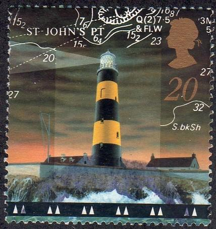 Great Britain 1804 - Used - 20p St. John's Point Lighthouse (1998) (cv $0.60)