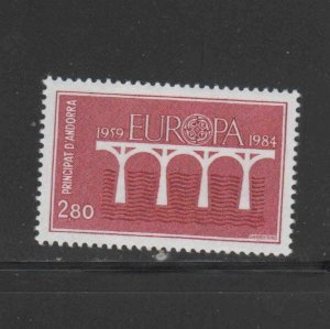 ANDORRA, FRENCH #325  1984   EUROPA  MINT VF NH  O.G