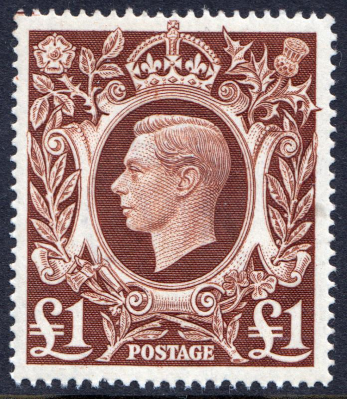 GB KGVI 1939 £1 Brown SG478c Mint Never Hinged MNH UMM