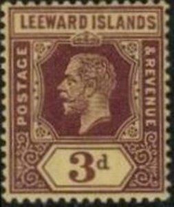 Leeward Islands 1913 SC 58 Mint