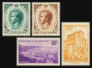 Monaco 405-408,lightly hinged. Prince Rainer III.Panorama & Cathedral of Monaco.