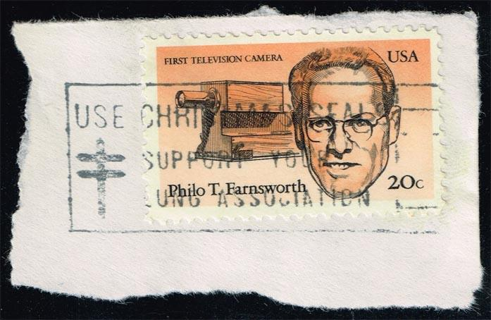 US #2058 Philo T. Farnsworth & T.V. Camera; Used (0.25)