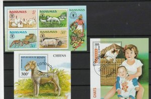 republic de benin and bahamas animals stamps ref r9638