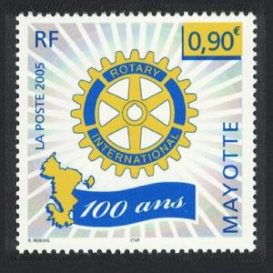 Mayotte Centenary of Rotary International 1v SG#212