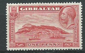 Gibraltar  SG 110a MVLH  Perf 13 1/2 x 14