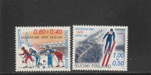 Finland  Scott#  B213-4  MNH  (1977 Ski Championships)
