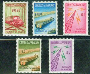 Paraguay Scott 577-581 MNH** set