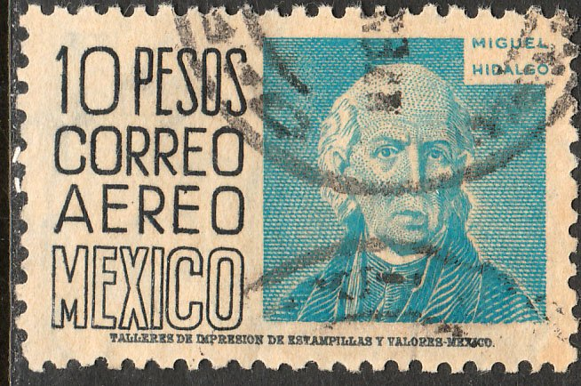 MEXICO C197, $10P 1950 Definitive wmk 279 Used (948)