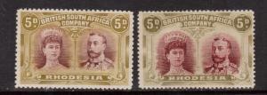 Rhodesia SG #141a & #143 Mint Rare Duo