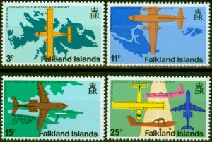 Falkland Is 1979 Stanley Airport Set of 4 SG360w-365w Wmk Crown to Right of C...