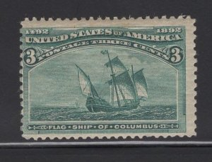 US Stamp Scott #232 Mint Previously Hinged SCV $35