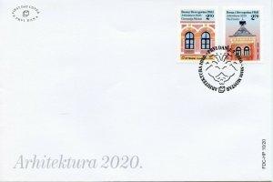 Bosnia & Herzegovina Architecture Stamps 2020 FDC Mostar Gymnasium 2v Set