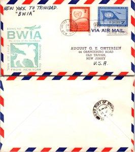 United Nations, New York, First Flight, Trinidad