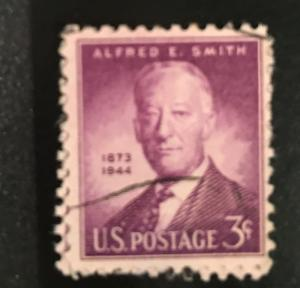 937 Alfred Smith, Hand Cancel, VF, NH, Vic's Stamp Stash