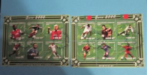 Mozambique - 1421-22, CTO Set, Sheets of 6. Soccer Championships. SCV - $17.50