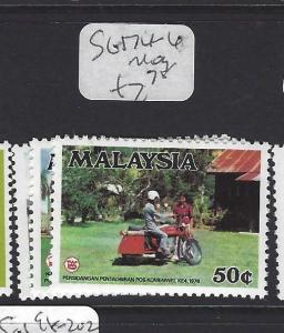 MALAYSIA (P3008B)  SG  174-6    MOG