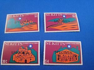 ST. KITTS  -  SCOTT # 45-48    SPECIMENS    MNH   (gg)