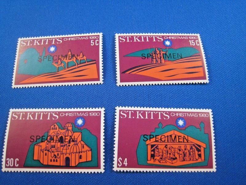 ST. KITTS  -  SCOTT # 45-48    SPECIMENS    MNH   (gg)