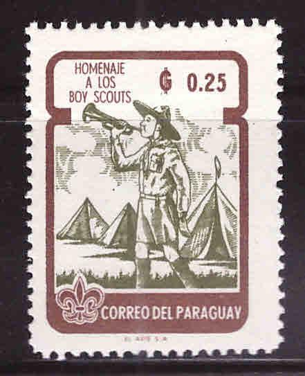 Paraguay Scott 640 MH* Scout stamp