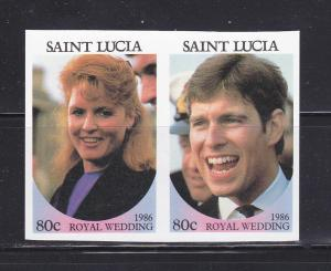 St Lucia 839 Imperf MNH Prince Andrew Wedding (A)
