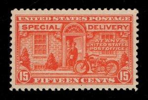 US # E13 - 15 Cents, Deep Orange - Unused - OG - LH, No Remnant - Cat:$40.00