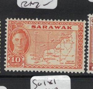 Sarawak Map SG 186 MNH (2dot)