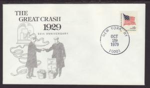 US 50th Anniversary Great Stock Market Crash 1979 Cover BIN
