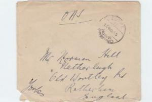 egypt 1940's on active service british field post censor cover  ref r15544