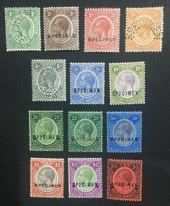 MOMEN: HONDURAS SG #124s-137s 1922-1933 SPECIMEN MINT OG H LOT #61246