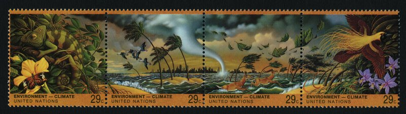 United Nations - New York 636a MNH Environment, Chameleon, Bird of Paradise