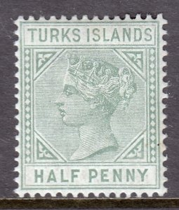 Turks Islands - Scott #48 - MH - SCV $5.00