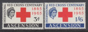 Ascension 90-91 Red Cross MNH VF