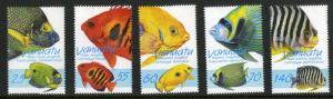 VANUATU 710-714 MH SCV $6.40 BIN $2.75 FISH