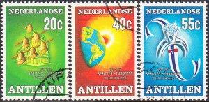 Netherlands Antilles #394-396  Used Set
