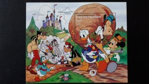 Disney - Caicos Islands 1985. - Brothers Grimm ** MNH Block