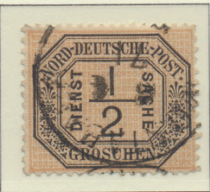 North German Confederation Stamp Scott #O3, Used, Thin - Free U.S. Shipping, ...