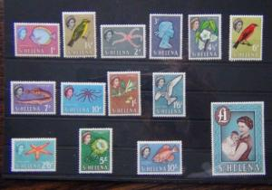 St Helena 1961 - 1965  set to 10s MM SG176 - SG189