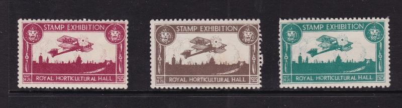 GB 1923 Royal Horticultural Hall Stamp Exhibition Stamps MNH VGC
