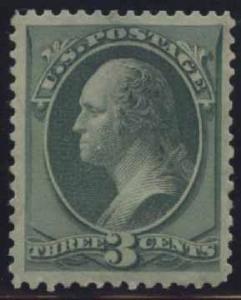 US Scott #184 Mint, VF, XL Hinge