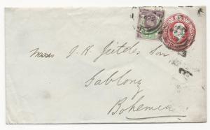 GREAT BRITAIN Postal Stationery Cover 1903 Bohemia Gablonza