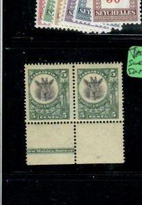 TANGANYIKA   (PP2108BB)  GIRAFFE 5C IMPRINT PR SG 89   MNH