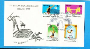DOMINICAN REPUBLIC - Scott 753-754 & C234-C235 - Pan Am Games, Sports - 1975