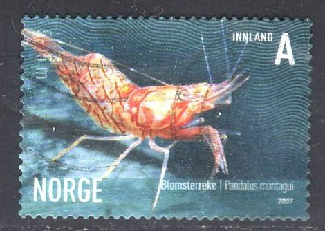 Norway  #1510  2007  used  marine life  (VI) pandalus  A