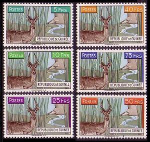 Guinea Deer 6v MH SG#268-273 MI#71-76