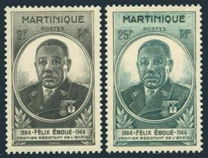 Martinique 196-197,MNH.Michel 203-204. Felix Eboue,1945.