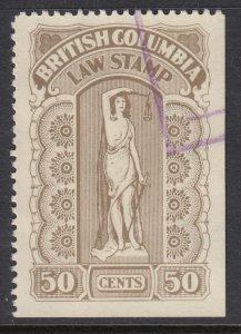 Canada (British Columbia Revenue), van Dam BCL34c, used