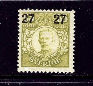 Sweden 103 MNH 1918 surcharge